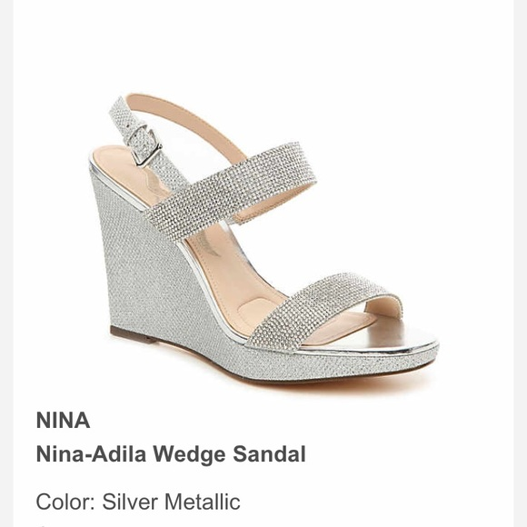 Dsw Sparkling Silver Wedges